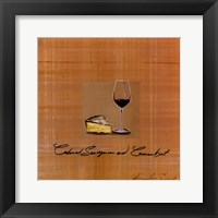 Framed Wine Cheese I