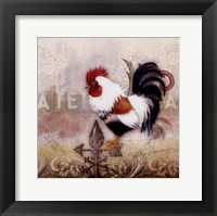 Framed Paisley Rooster