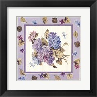 Framed Mixed Color Hydrangeas