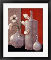 Silverleaf And Poppies II Framed Print