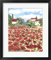 Framed Poppy Field #1