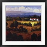 Golden Hills II Framed Print