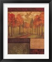Framed Autumn Tapestry I