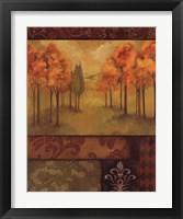 Framed Autumn Tapestry II