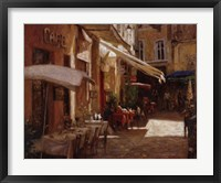 Framed Cafe De Provence
