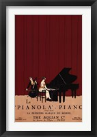 Framed Le Pianola