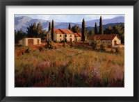 Laundry Day, Tuscany Italy Framed Print