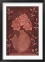 Framed Fleurs Rouge I