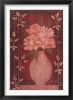 Framed Fleurs Rouge II
