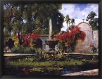 Framed Fountain At San Juan Capistrano