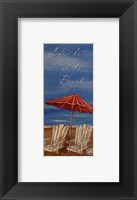 Life's Better At The Beach Framed Print