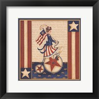 Framed Star Spangled Girl