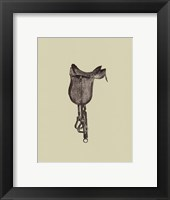 Framed Antique Saddle IV