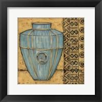 Framed Square Cerulean Pottery II