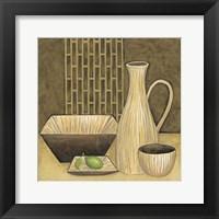 Bamboo Vase Framed Print