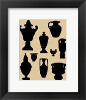 Framed Urns In Silhouette I
