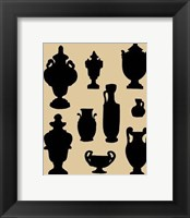 Framed Urns In Silhouette II