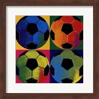 Framed Ball Four - Soccer