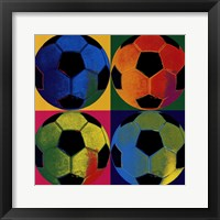 Framed Ball Four - Soccer