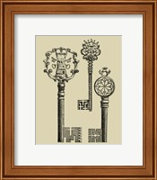 Framed Antique Keys I