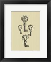 Antique Keys IV Framed Print