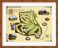 Framed Golf Course Map-Augusta
