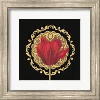 Framed Tulip Medallion I