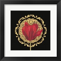 Framed Tulip Medallion I