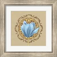 Framed Gilded Tulip Medallion I