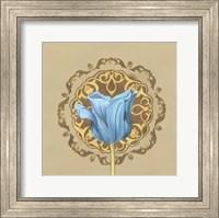 Framed Gilded Tulip Medallion II