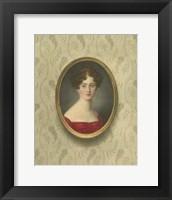 Framed Miniature Portrait I