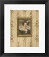 Framed Miniature Portrait IV