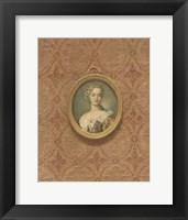 Framed Miniature Portrait VI