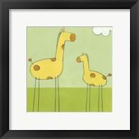 Stick-Leg Giraffe I Framed Print