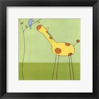 Stick-Leg Giraffe II Framed Print