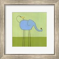 Framed Stick-Leg Elephant I