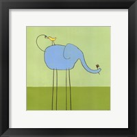 Framed Stick-Leg Elephant I