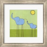 Framed Stick-Leg Elephant II