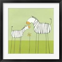 Framed Stick-Leg Zebra II