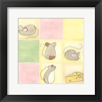 Framed Tic-Tac Mice In Pink