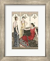Framed Art Deco Elegance IV