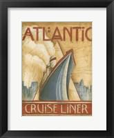 Atlantic Cruise Liner Framed Print