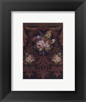 Framed Floral Bouquet Tapestry