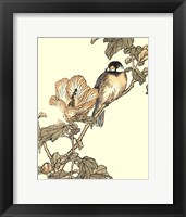 Framed Oriental Bird On Branch I
