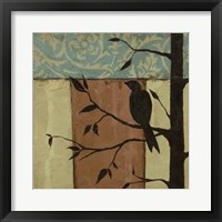 Arts Crafts Silhouette VI Framed Print