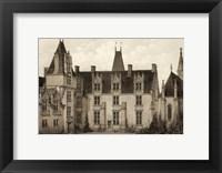 Framed Petite Sepia Chateaux I