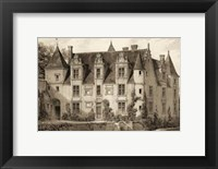 Framed Petite Sepia Chateaux III