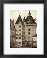 Framed Petite Sepia Chateaux VI