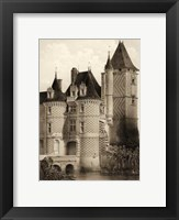 Framed Petite Sepia Chateaux VII