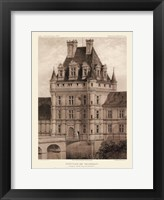 Framed Petite Sepia Chateaux VIII